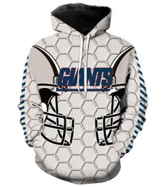 LN2179 3D Digital Printed NFL New York Giants Football Team Sport Hoodie Unisex Fit Style Hoodie With Hat