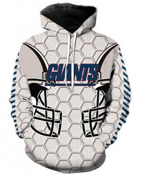 LN2179 3D Digital Printed NFL New York Giants Football Team Sport Hoodie Unisex Fit Style Hoodie With Hat