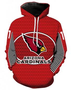 LN2186 3D Digital Printed NFL Arizona Cardinals Football Team Sport Hoodie Unisex Fit Style Hoodie With Hat