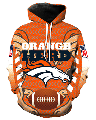 cbfe6a70 LN2702 3D Digital Printed NFL Denver Broncos Football Team Sport Hoodie  Unisex Fit Style Hoodie With Hat