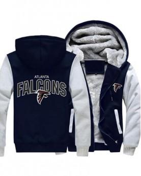 LYAF-01 USA Rugby NFL Atlanta Falcons Football Zipper With Hat Hoodies Team Sports Jacket