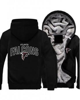 LYAF-04 USA Rugby NFL Atlanta Falcons Football Zipper With Hat Hoodies Team Sports Jacket
