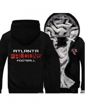 LYBAF USA Rugby NFL Atlanta Falcons Football Zipper With Hat Hoodies Team Sports Jacket