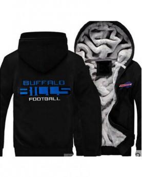 LYBBB USA Rugby NFL Buffalo Bills Football Zipper With Hat Hoodies Team Sports Jacket