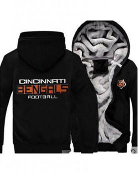 LYBCCB USA Rugby NFL Cincinnati Bengals Football Zipper With Hat Hoodies Team Sports Jacket