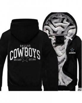 LYBDC1 USA Rugby NFL Dallas Cowboys Football Zipper With Hat Hoodies Team Sports Jacket