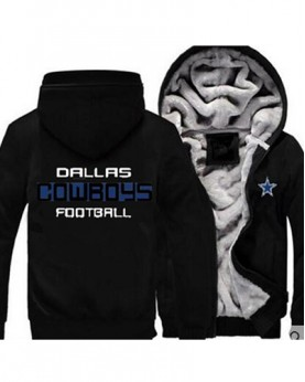 LYBDC2 USA Rugby NFL Dallas Cowboys Football Zipper With Hat Hoodies Team Sports Jacket