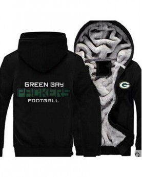 LYBGBP USA Rugby NFL Green Bay Packers Football Zipper With Hat Hoodies Team Sports Jacket