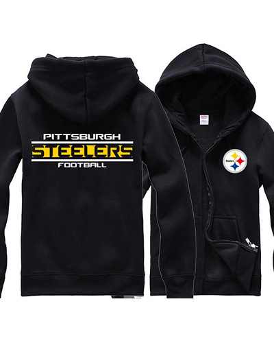 save off b58ea 6194f LYSPS USA Rugby NFL Pittsburgh Steelers Football Zipper With ...