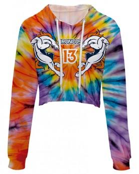 WCT77038 New Design 3D Digital Printed NFL Denver Broncos Team Football Fashion Sexy Exposed Navel Women Hoodies