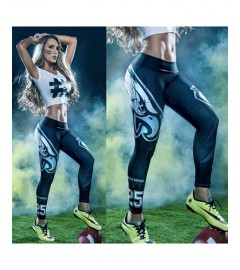 YDC045 High Waist Normal Quality NFL Philadelphia Eagles Football Team Sports Leggings