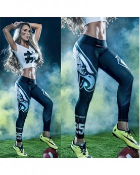 YDC045 High Waist Normal Quality NFL Philadelphia Eagles Football Team Sports Leggings