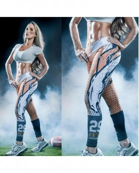 YDC046 High Waist Normal Quality NFL Denver Broncos Football Team Sports Leggings