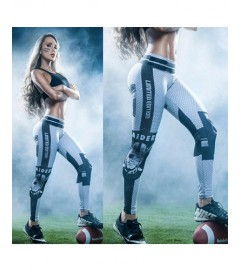 YDC047 High Waist Normal Quality NFL Oakland Raiders Football Team Sports Leggings