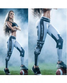 YDC047 High Waist Normal Quality NFL Oakland Raiders Football Team Sports Leggings