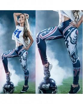 YDC050 High Waist Normal Quality NFL Denver Broncos Football Team Sports Leggings