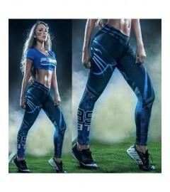 YDC051 High Waist Normal Quality NFL Carolina Panthers Football Team Sports Leggings