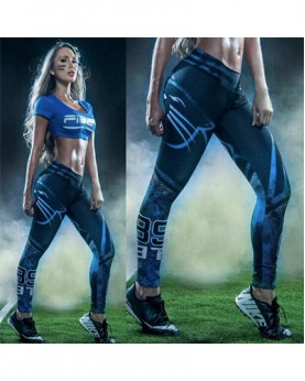 YDC051 High Waist Normal Quality NFL Carolina Panthers Football Team Sports Leggings