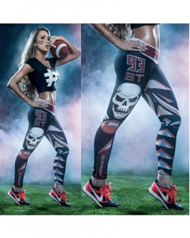 YDC052 High Waist Normal Quality NFL Tampa Bay Buccaneers Football Team Sports Leggings