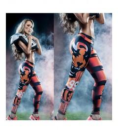 YDC053 High Waist Normal Quality NFL Cincinnati Bengals Football Team Sports Leggings