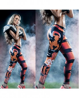 YDC053 High Waist Normal Quality NFL Cincinnati Bengals Football Team Sports Leggings