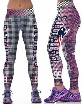 YDC073 High Waist Normal Quality NFL New England Patriots Football Team Sports Leggings
