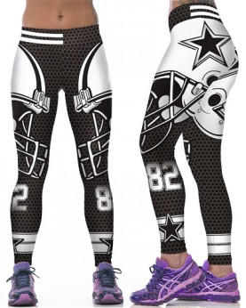 YDC074 High Waist Normal Quality NFL Dallas Cowboys Football Team Sports Leggings