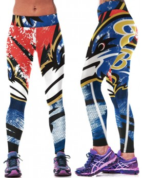YDC089 High Waist Normal Quality NFL Baltimore Ravens Football Team Sports Leggings