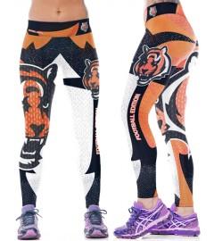 YDC090 High Waist Normal Quality NFL Cincinnati Bengals Football Team Sports Leggings