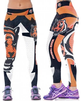 YDC090 High Waist Normal Quality NFL Cincinnati Bengals Football Team Sports Leggings