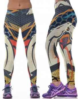 YDC092 High Waist Normal Quality NFL Denver Broncos Football Team Sports Leggings