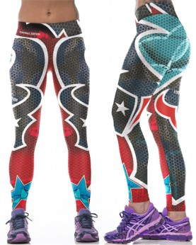 YDC093 High Waist Normal Quality NFL Houston Texans Football Team Sports Leggings