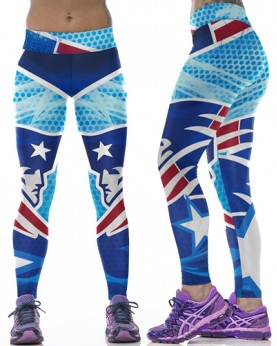 YDC094 High Waist Normal Quality NFL New England Patriots Football Team Sports Leggings