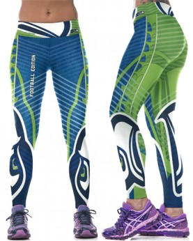 YDC095 High Waist Normal Quality NFL Seattle Seahawks Football Team Sports Leggings