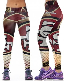 YDC096 High Waist Normal Quality NFL San Francisco 49ers Football Team Sports Leggings