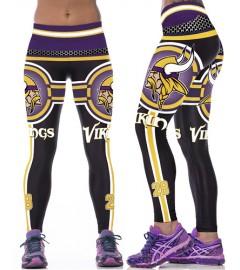 YDC141 High Waist Normal Quality NFL Minnesota Vikings Football Team Sports Leggings
