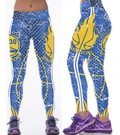 YDC142 High Waist Normal Quality NBA Golden State Warriors Basketball Team Sports Leggings