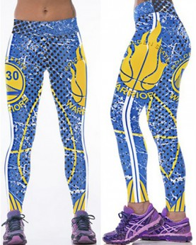 YDC142 High Waist Normal Quality NBA Golden State Warriors Basketball Team Sports Leggings
