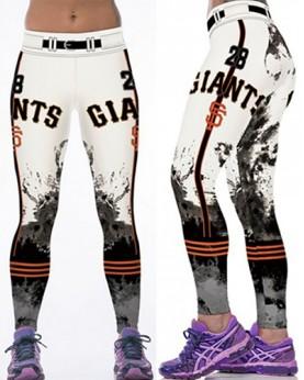 YDC143 High Waist Normal Quality MLB San Francisco Giants Baseball Team Sports Leggings