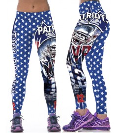 YDC146 High Waist Normal Quality NFL New England Patriots Football Team Sports Leggings