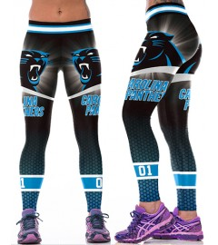 YDC189 High Waist Normal Quality NFL Carolina Panthers Football Team Sports Leggings