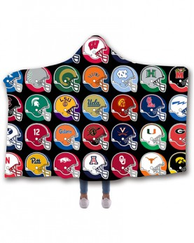 CO-AAC1 Standard USA Size American University College Team Hooded Blanket Wearable Throw Blankets For Adults And Kids