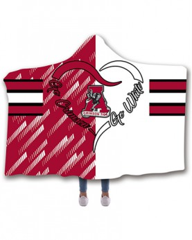 CO-ACT6 Standard USA Size Alabama Crimson Tide College Team Hooded Blanket Wearable Throw Blankets For Adults And Kids