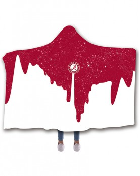 CO-ACT7 Standard USA Size Alabama Crimson Tide College Team Hooded Blanket Wearable Throw Blankets For Adults And Kids