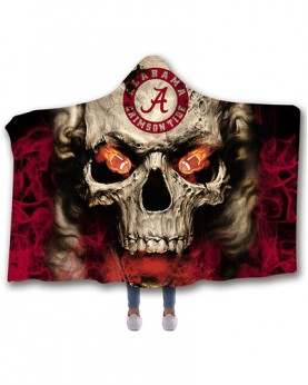 CO-ACT8 Standard USA Size Alabama Crimson Tide College Team Hooded Blanket Wearable Throw Blankets For Adults And Kids