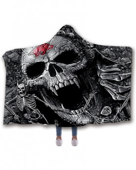 CO-AR1 Standard USA Size Arkansas Razorbacks College Team Hooded Blanket Wearable Throw Blankets For Adults And Kids