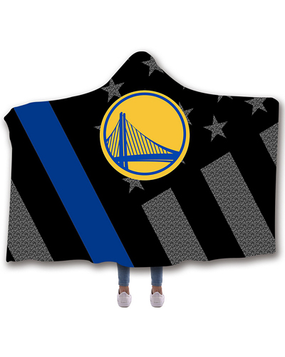 225181e7 NB-GSW02 Standard USA Size NBA Golden State Warriors Basketball Hooded  Blanket Wearable Throw Blankets For Adults And Kids