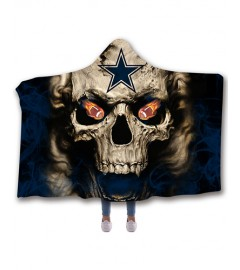 b4a794f83 NF-DC02 Standard USA Size NFL Dallas Cowboys Football Hooded Blanket  Wearable Throw Blankets For