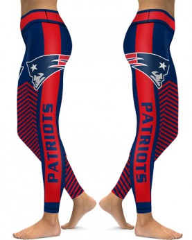 DBAQ551 High Waist NFL New England Patriots Football Team 4Needle 6Thread Stitcking Sports Leggings