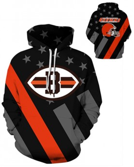 DQYDM440 3D Digital Printed NFL Cleveland Browns Football Team Sport Hoodie Unisex Hoodie With Hat